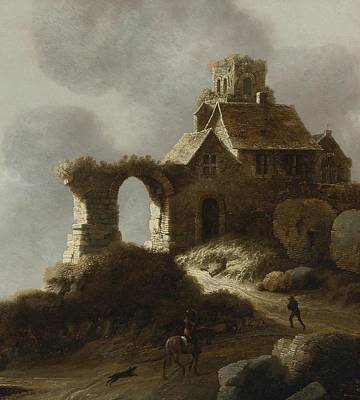 Ruins On A Hill Art Print by Celestial Images