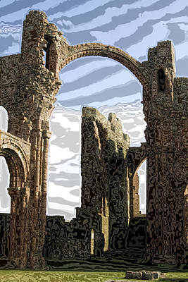 Ruins On The Holy Island Art Print by Carl Purcell