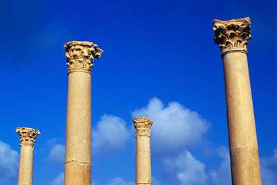 Ruins Roman Columns At Timgad Art Print by Roman School