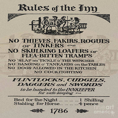 Tankard Digital Art - Rules Of The Inn by Neil Finnemore