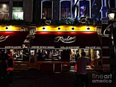 Photograph - Rules - Oldest Restaurant In London by Doc Braham