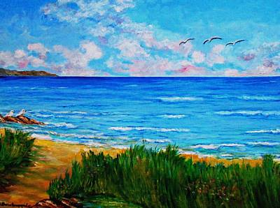 Painting - Rullsands Beach / Sweden-gaevle by Constantinos Charalampopoulos