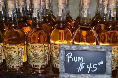 Photograph - Rum Bottles by Warren Thompson