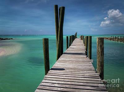 Photograph - Rum Cay Marina Jetty In Bahamas by Jola Martysz