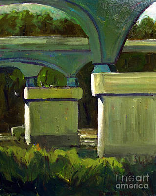 Rumble On The River Plein Air Painting Original by Charlie Spear