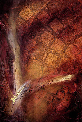 Wall Art - Mixed Media - Rumi - Crack Of Light by Jane Dill