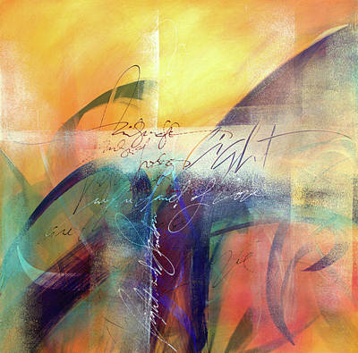 Wall Art - Mixed Media - Rumi - Light And Shadow-one by Jane Dill