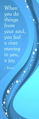 Digital Art - Rumi River Joy by Ginny Gaura