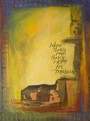 Wall Art - Painting - Rumi Ruin by Jane Dill