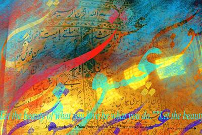 Turkey Mixed Media - Rumination Of Rumi-3 by Seema Sayyidah