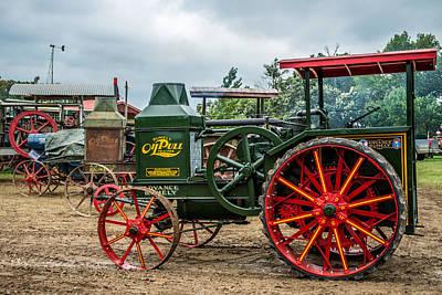 Rumley Oil Pull Tractor Art Print by Paul Freidlund