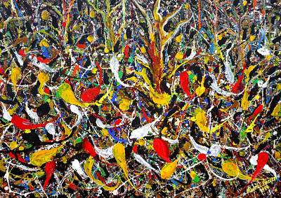 Unity Painting - Rummage In The Myth #2 by Mbonu Emerem