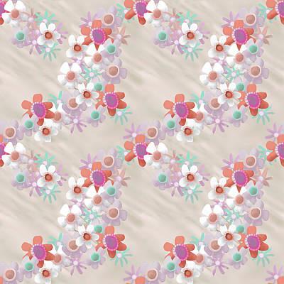 Digital Art - Rumpled Blossoms by April Burton