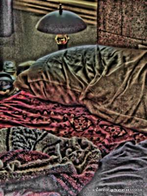 Unmade Bed Digital Art - Rumpled by Vince Green