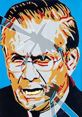Iraq Painting - Rumsfeld by Dennis McCann