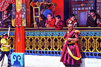Rumtek Monastery Festival Print by Steve Harrington