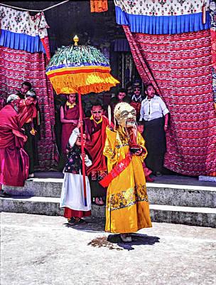 Mahayana Photograph - Rumtek Monastery Procession by Steve Harrington