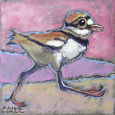 Killdeer Painting - Run, Baby, Run by Ande Hall