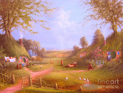 The Shire Painting - Run Bilbo Late For An Appointment by Joe  Gilronan