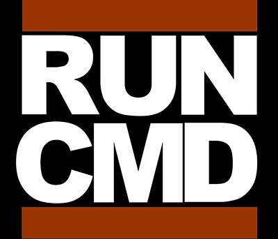 Run Cmd Art Print