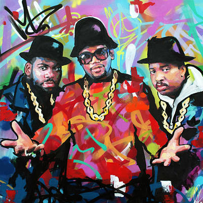 Jay Z Wall Art - Painting - Run Dmc by Richard Day