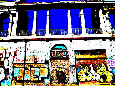 Run Down Valparaiso Buildings Art Print