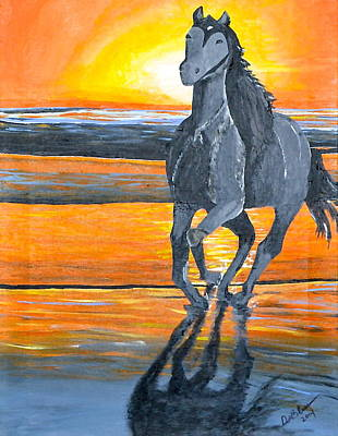 Painting - Run Free by Donna Blossom