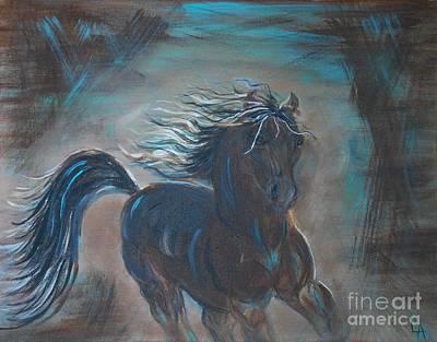 Painting - Run Horse Run by Leslie Allen