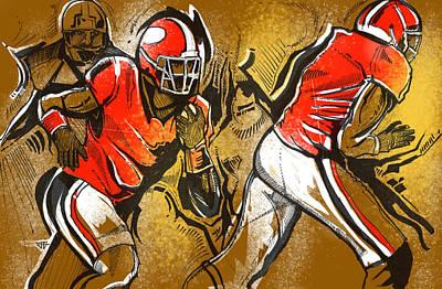 Painting - Run It by John Jr Gholson