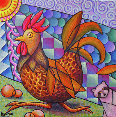 Painting - Run Rooster Run by Lindi Levison