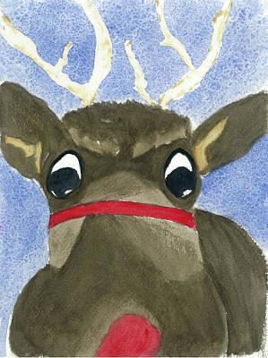 Run Run Rudolph Art Print