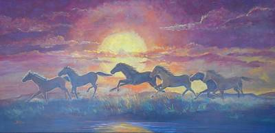 Lynn Burton Painting - Run Through The Sun by Lynn Burton