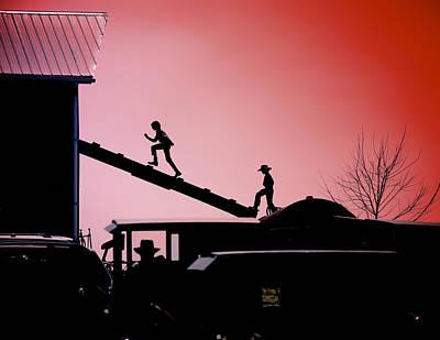 Mennonite Community Photograph - Run To The Hayloft by Patrick Hart