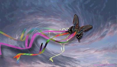 Runaway Kite Art Print