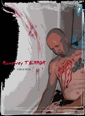 Digital Art - Runaway Terror 2 - Black by Mark Baranowski