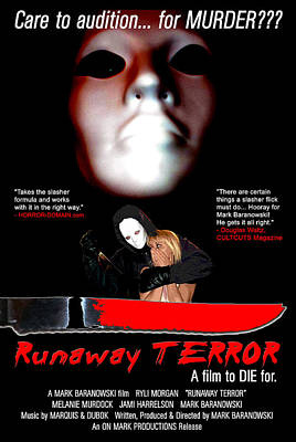 Digital Art - Runaway Terror Poster by Mark Baranowski