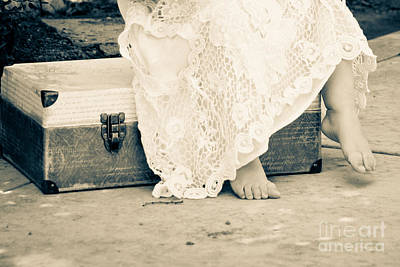 Little Girl Photograph - Runaway Toes by Ava Peterson