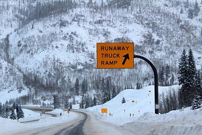Photograph - Runaway Truck Ramp by Fiona Kennard