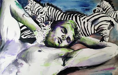 Painting - Runaway Zebra  by Rene Capone