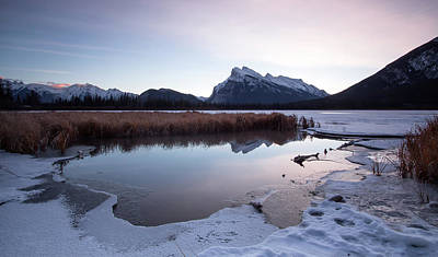 Photograph - Rundle Mountain Reflections by Celine Pollard