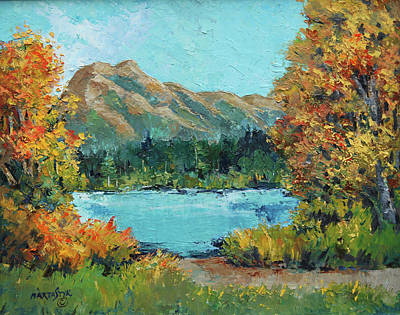 Painting - Rundle Mtn. by Marta Styk