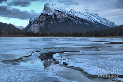 Photograph - Rundle Reflections In The Water Channel by Adam Jewell