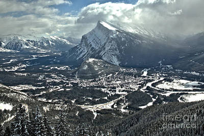 Photograph - Rundle Towering Above The Town Of Banff by Adam Jewell