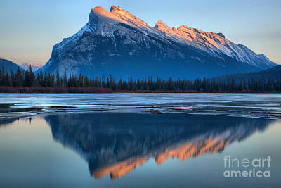 Photograph - Rundle Winter Glow by Adam Jewell