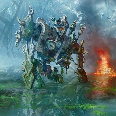 Swamp Digital Art - Rundown Clockwork by Ryan Barger