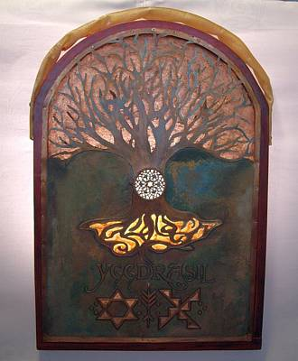 Symbolism Mixed Media - Runes For Restoration Illuminated by Shahna Lax