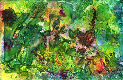 Fallen Leaf Mixed Media - Runes Of Autumn by James Draper