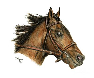 Race Horse Painting - Runhappy by Pat DeLong