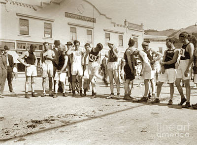 Photograph - Runners  In Downtown Mill Valley Was The Start Of The Dipsea Race by California Views Mr Pat Hathaway Archives