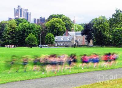 Runners Motion Blur Art Print